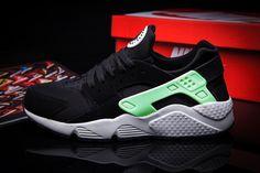 a8cfaf7ccdb5 Nike Air Huarache Black Poison Green White Nike Air Huarache