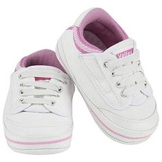 My First Volley Pre Walker Shoes - White + Pink