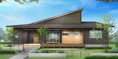 Small Modern Home, Natural Interior, Sims House, Cladding, Exterior Design, Facade, Contemporary, Architecture, House Styles