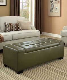 This Deep Olive Green Laredo Large Rectangular Storage Ottoman Bench by Simpli Home is perfect! #zulilyfinds