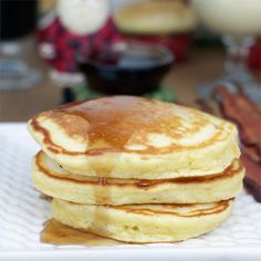 Eggnog Pancakes Recipe with all-purpose flour, eggnog, large eggs, butter, sugar, baking powder, salt