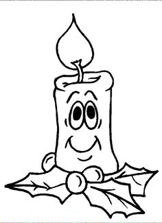 Most youngsters are crazy about coloring, so this Christmas candle coloring sheet activity of a smiling candle is a great selection for Christmas fans. Christmas Coloring Pages, Coloring Book Pages, Printable Coloring Pages, Coloring Pages For Kids, Christmas Candle, Christmas Art, Digital Stamps Christmas, Illustration Noel, Christmas Drawing