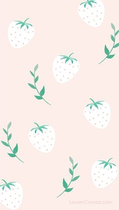 strawberry phone wallpaper by Yellow Heart Art for LC.com