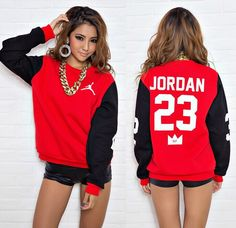 """BrytCouture - """"JORDAN 23"""" MVP Pullover Sweater - Red, US$55.00 (http://www.brytcouture.com/jordan-23-mvp-pullover-sweater-red/)"""