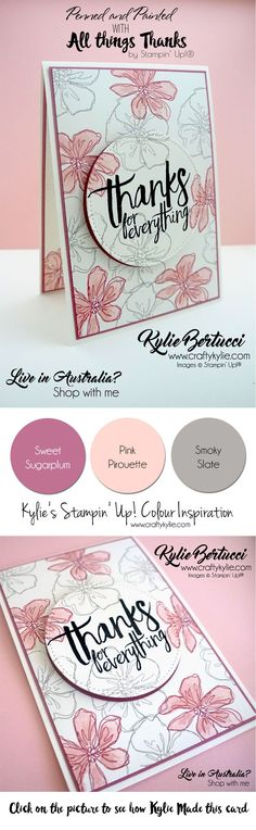 Kylie Bertucci - International Highlights winners blog hop. Penned and Painted - All things thanks stamp sets. #stampinup #cardmaking #handmadecard #rubberstamps #stamping #kyliebertucci