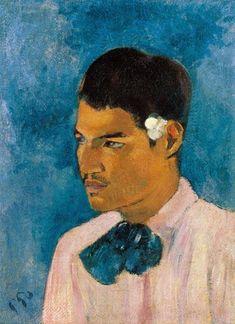 Gauguin, Paul : Le jeune homme avec la fleur