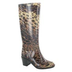Spot On Womens/Ladies Leopard Print Mid Heel Wellington Boots >>> Be sure to check out this awesome product.