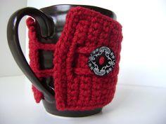 crochet, mug cozy, cozi project, mugs