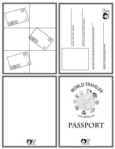 passport template - passport for kids -  passport - www.chillola.com. Maybe use this everyone time we sing a song from a different country?