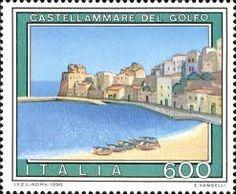 Stamp on Castellammare del Golfo, near Trapani, Sicily (1990)
