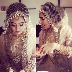 Being a bride in 2018 is fabulous- there are so many fresh new ideas and inspiration out there that you can really stand out as a bride! Accessories are an integral part of any bride's look and trouss. Bridal Dupatta, Pakistani Bridal Dresses, Bridal Looks, Bridal Style, Muslim Wedding Dresses, Muslim Brides, Bollywood, Indie, Arts And Crafts