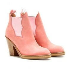 NEW Acne Studios Stretchy Suede leather Ankle Boots Rose Pink #FOLLOWITFINDIT #ebaycollection