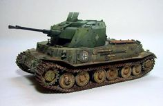 it's tricky to be original in terms of Panzer '46 models, but Karl Logan's 1/35 'Tiger Coelian' is a very clever and fresh idea. This is the Italeri VK4501 proto-hull with Dragon's Coelian AA turret