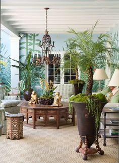 macetas coloniales con plantas - Buscar con Google