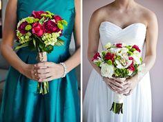 BRIDESMAID BAG - PURPLE BRIDESMAID DRESS TEAL TRIM FROM ZAZZLE.COM