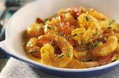 Crevettes au safran saveur d'orange au thermomix
