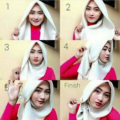 How to... Square Hijab Tutorial, Simple Hijab Tutorial, Hijab Style Tutorial, Stylish Hijab, Modest Fashion Hijab, Hijab Chic, Tutorial Hijab Pesta, New Hijab Style, Abaya Style