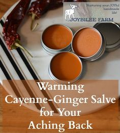 An analgesic salve you can make today with cayenne pepper, ginger, and St. John's wort in a beeswax base. Good for relief of mild to moderate pain.