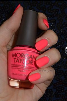The Fancy Side: Morgan Taylor Neon Collection, ☆ Pink Flame-ingo ☆ . an on. - The Fancy Side: Morgan Taylor Neon Collection, ☆ Pink Flame-ingo ☆ … an on fire PINK nail pol - Morgan Taylor, Wedding Nail Polish, Pink Nail Polish, Neon Nails, Pink Nails, Color Rosa Neon, Cute Nails, Pretty Nails, Hair And Nails