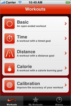 Nike+ « TapFancy – An iPhone app design showcase and gallery Best Workout Apps, Best Apps, Fun Workouts, Nike App, Iphone App Design, App Design Inspiration, Web Design Agency, Ui Elements, Showcase Design
