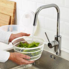TOKIG Salad spinner, white - IKEA Olive Oil Dispenser, Kitchen Drawing, Dryer Machine, Recycling Facility, Salad Spinner, Luxury Kitchen Design, Salads, Kitchen, Vegetables