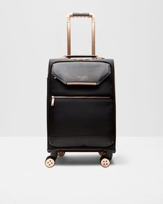Metallic trim small suitcase - Black | Bags | Ted Baker UK