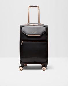 Metallic trim small suitcase - Black | Bags | Ted Baker UK