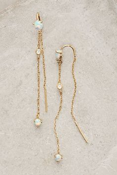 Threaded Calmetto Earrings #anthropologie