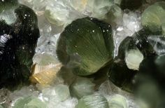 Anatase and clinochlore on Quartz.