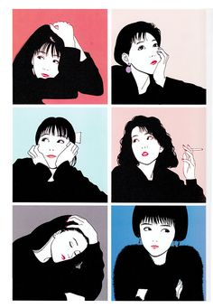 By mangaka Hisashi Eguchi, who references 'American Pop Art' as his influences on creating the modern woman. Art And Illustration, Character Illustration, Art Pop, Manga Anime, Anime Art, Art Mignon, Girls Anime, Japanese Art, Cute Art