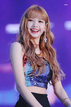 Find images and videos about kpop, blackpink and lisa on We Heart It - the app to get lost in what you love. Lisa Black Pink, Black Pink Kpop, Blackpink Lisa, Kim Jennie, Kpop Girl Groups, Kpop Girls, Stage Outfit, Lisa Blackpink Wallpaper, Kim Jisoo