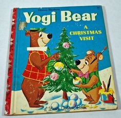 Yogi Bear Christmas Vintage Little Golden Book by annswhimseypaper