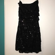 Short black sequin party dress Stylish short black party dress, with sequin. Never has been worn, still has tags. Rue 21 Dresses Strapless