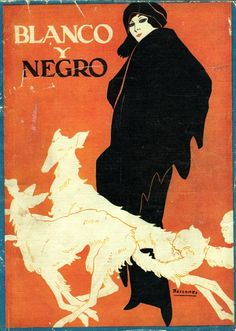 Blanco y Negro, April 1925 (cover artwork by Cover by R.M. Bascones)