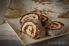 rulada de biscuiti Romanian Desserts, Romanian Food, Something Sweet, Coco, Biscuit, Bakery, Muffin, Dessert Recipes, Food And Drink