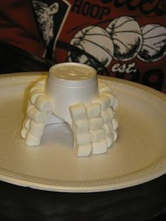 marshmallow igloos, could also do with cotton balls?