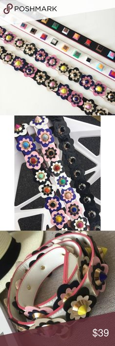 "Spring Accessory ! Get it first !! Colorful rivet handbag strap. The accessory of the season !  pu leather material. You'll receive the strap as seen in third and fourth picture. 41.3"" in length. If you want another color you can PREORDER ! ;)) just leave me a comment ;) Bags Crossbody Bags"