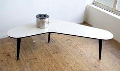 ovenkamp 'boomerang' salontafel, design jaren 60