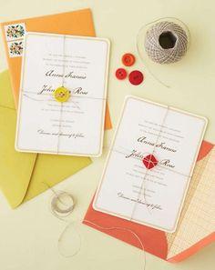 Button invitations