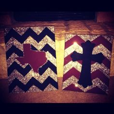 easy to paint cross on canvas | ... stripes, cross, a&m colors. Easy to do, just time consuming...enjoy