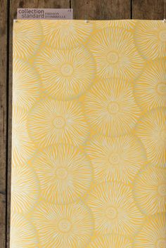 papier peint intissé / jaune / gris argenté / wallpaper / tendance