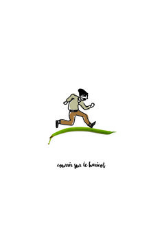 Courrir sur le haricot // Expression française. French expression Illustration by Fernande & René www.fere.fr