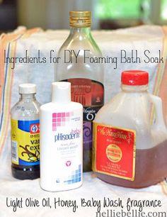 ingredients for diy bath soak...easy!