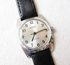 Russian watch Wostok-18jewels Vintage Men's watch Retro watch Wristwatch Silver dial Mechanical wrist watch Working watch Old watch,USSR by TedDiscovery on Etsy
