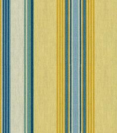 Home Decor Outdoor Fabric-Croscill Outdoor Marinda Stripe Chamomile: home decor fabric: fabric: Shop | Joann.com