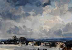 Rowland Hilder (1905 — 1993, UK) Towards Polhill and the North Downs. watercolour, ink. 24.5 x 33.5 cm.
