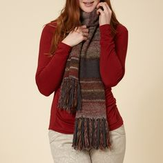 This comfortable scarf makes a strong impression in galaxy green or dk. cranberry—the perfect match for a casual fall outing. Its Manu Space Dyed Yarn fabric blends acrylic and wool to keep you warm and cozy without weighing you down. Boho Womens Clothing, Bohemian Style Clothing, Scarf Sale, Boho Boutique, Outdoor Fashion, Wool Scarf, Handmade Clothes, Boho Outfits, Boho Fashion