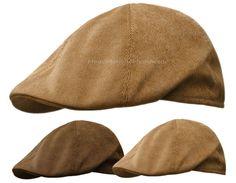 Corduroy duckbill ivy cap gatsby newsboy hat golf brown tan flat cabbie m l  xl aad72d8c6e5f