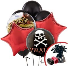 PartyBell.com - Pirates #Balloon Bouquet