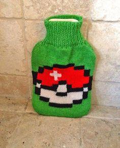 Pokemon 8-bit Hot Water Bottle Cover  Pokeball: I Choose You
